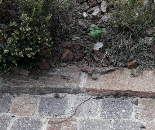 Immagine di Binderi in porfido del trentino come bordura o cordolo pavimenti